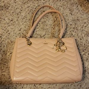 Kate Spade light pink and gold tote